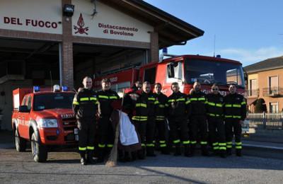 I vigili del fuoco di Bovolone incontrano il Papa
